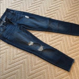 Flying monkey cropped jeans
